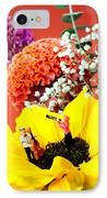 The Concert In The Flower Miniature Art IPhone Case by Paul Ge