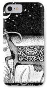 The Constellation Of A Cow IPhone Case by Victor Koryagin