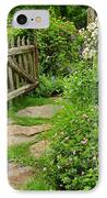 The Cottage Garden Walkway IPhone Case by Thomas Schoeller