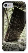 The Crowd Gathers Outside - Abandoned Apple Barn IPhone Case by Gary Heller