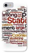 The Declaration Of Independence IPhone Case by Florian Rodarte