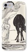 The Djinn In Charge Of All Deserts Guiding The Magic With His Magic Fan IPhone Case by Joseph Rudyard Kipling