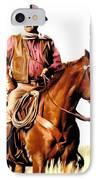 The Duke  John Wayne IPhone Case by Iconic Images Art Gallery David Pucciarelli