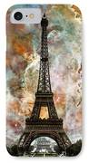 The Eiffel Tower - Paris France Art By Sharon Cummings IPhone Case by Sharon Cummings