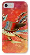 The Empress - Flight Of Phoenix - Red Version IPhone Case by Bedros Awak