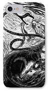 The Enemy Within IPhone Case by Maria Arango Diener