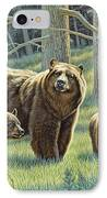 The Family - Black Bears IPhone Case by Paul Krapf