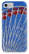 The Ferris Wheel Chicago IPhone Case by Christine Till