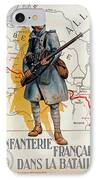 The French Infantry In The Battle IPhone Case