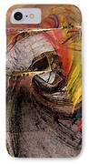 The Huntress-abstract Art IPhone Case by Karin Kuhlmann
