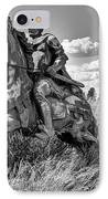The Knight Goes Forth IPhone Case by Daniel Hagerman