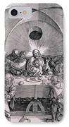 The Last Supper From The 'great Passion' Series IPhone Case by Albrecht Duerer