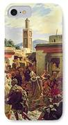 The Moroccan Storyteller IPhone Case by Alfred Dehodencq