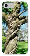 The Old Lady Of The Green IPhone Case by Michelle Calkins
