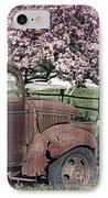 The Old Truck And The Crab Apple IPhone Case by Edward Fielding