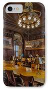 The Periodical Room At The New York Public Library IPhone Case by Susan Candelario