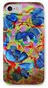 The Pink And Blue Plate IPhone Case by Martha Nelson