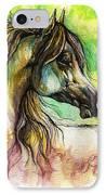 The Rainbow Colored Arabian Horse IPhone Case