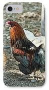 The Rooster And His Hens IPhone Case