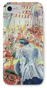 The Street Enters The House IPhone Case by Umberto Boccioni