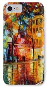 The Tears Of The Fall - Palette Knife Oil Painting On Canvas By Leonid Afremov IPhone Case by Leonid Afremov