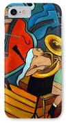 The Tuba Player IPhone Case by Valerie Vescovi