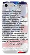 The U.s.a. Flag Poetry Art Poster IPhone Case by Stanley Mathis