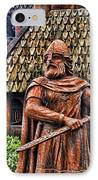 The Viking Warrior Statue  IPhone Case by Lee Dos Santos
