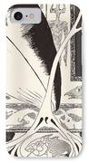 The Whale Looking For The 'stute Fish IPhone Case by Joseph Rudyard Kipling