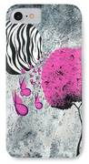 The Zebra Effect 1 IPhone Case by Oddball Art Co by Lizzy Love