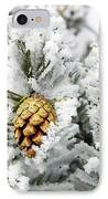 Three Frosty Cones IPhone Case by Marilyn Hunt