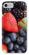 Three Fruit Closeup - Strawberries - Blueberries - Blackberries IPhone Case by Barbara Griffin