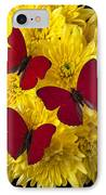 Three Red Butterflys IPhone Case by Garry Gay
