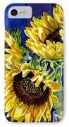 Three Sunny Flowers IPhone Case