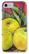 Three Yellow Apples IPhone Case by Blenda Studio