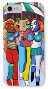 Threes A Crowd By Anthony Falbo                                          IPhone Case by Anthony Falbo