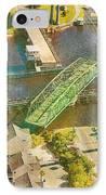 Ti Swingin' Swing Bridge IPhone Case by Betsy Knapp