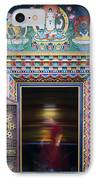 Tibetan Monk And The Prayer Wheel IPhone Case by Tim Gainey