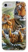 Tiger And Cubs IPhone Case by Adrian Chesterman