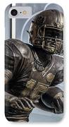 Tim Tebow Uf Heisman Winner IPhone Case by Lynn Palmer
