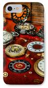 Time - Pocket Watches  IPhone Case by Paul Ward