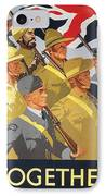 Together Propaganda Poster IPhone Case by Anonymous