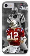 Tom Brady Patriots IPhone Case by Joe Hamilton