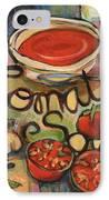 Tomato Soup Recipe IPhone Case by Jen Norton
