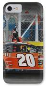 Tony Stewart Climbs For The Checkered Flag IPhone Case