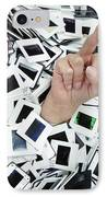 Too Many Slides - Hand Giving The Middle Finger IPhone Case by Matthias Hauser