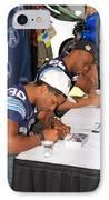 Toronto Argonauts Players Signing Autographs IPhone Case by Valentino Visentini