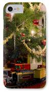 Toy Train Under The Christmas Tree IPhone Case by Diane Diederich