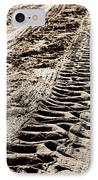 Tractor Tracks In Dry Mud IPhone Case