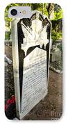 Trafalgar Cemetery Headstone IPhone Case